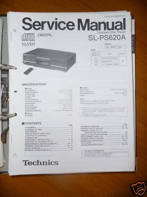 Tv, Video & Audio AnpassungsfäHig Service Manual Technics Sl-ps620a Cd-player,original Auf Dem Internationalen Markt Hohes Ansehen GenießEn