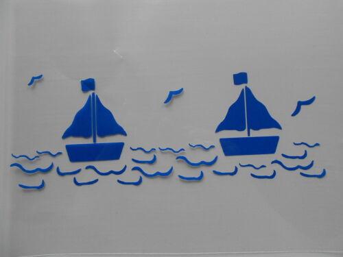 Wanddeko Airbrush u.v.m auf A4 Segelboote für Textilien Schablone Stencil kl