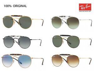 24457b19fe0 Image is loading sunglasses-Ray-Ban-3747-arista-round-Double-bridge-