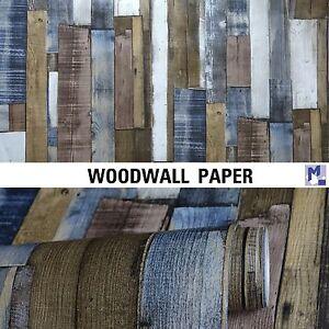 Rasch tappezzeria multicolor legno da parete carta for Tappezzeria da parete