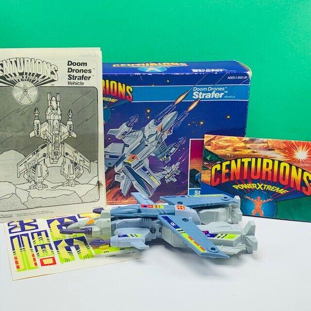 Centurions action figure 1986 Kenner Doom Drone Strafer vehicle box complete vtg