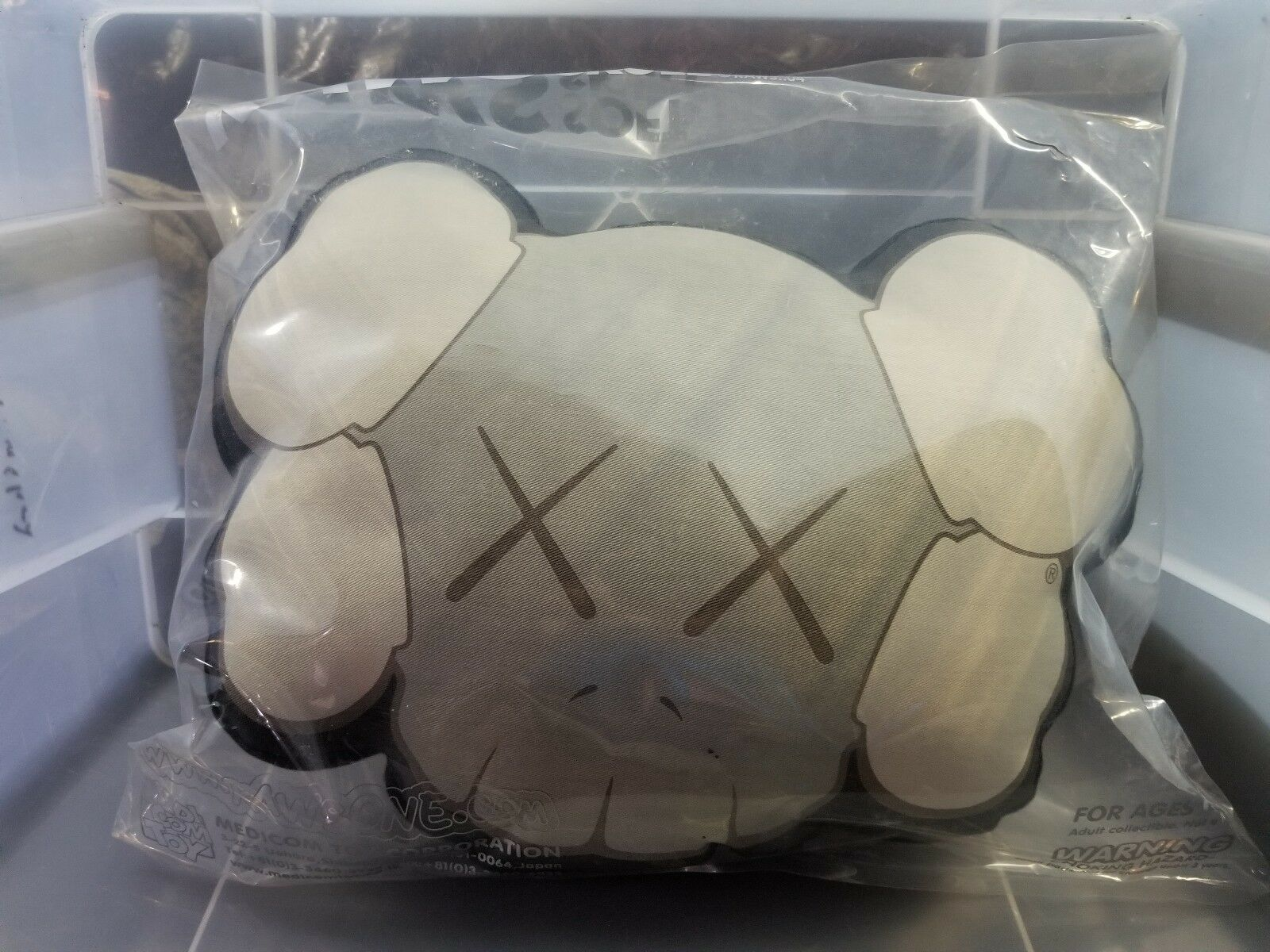 KAWS Cushion Pillow autentico Original Fake medicom soft skull 2004