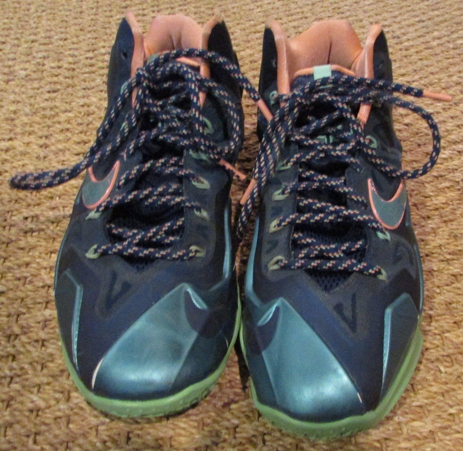 2018 Nike Vs Lebron 11 XI Akron Vs Nike Miami homme's Basketball chaussures 616175-400 SZ 12 716173