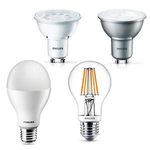PHILIPS-LED-Lampe-SONDERPOSTEN-GU10-E27-verschiedene-Typen-dimmbar-Filament