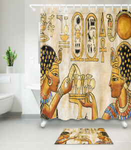 Waterproof Ancient Egyptian Nobility Shower Curtain ...
