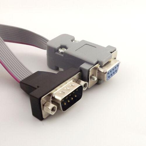 1pcs Serial DB9 Pin Female Port to DB9 Pin RS232 Male Ribbon Flat Cable 90cm