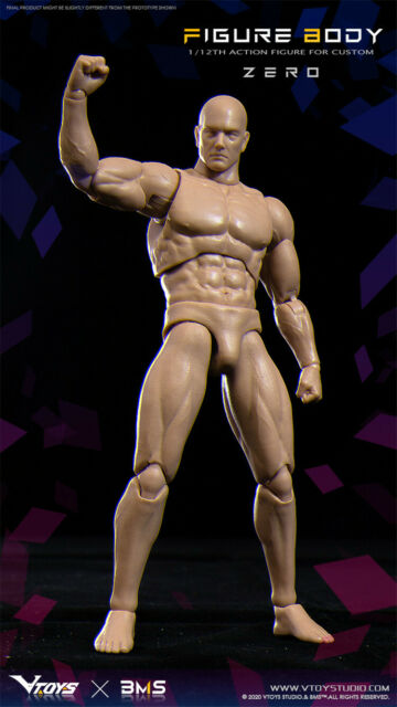 """MCCToys 1//12 Male Figure Body Model Standard Muscle Toy for 12/"""" Action Doll"""