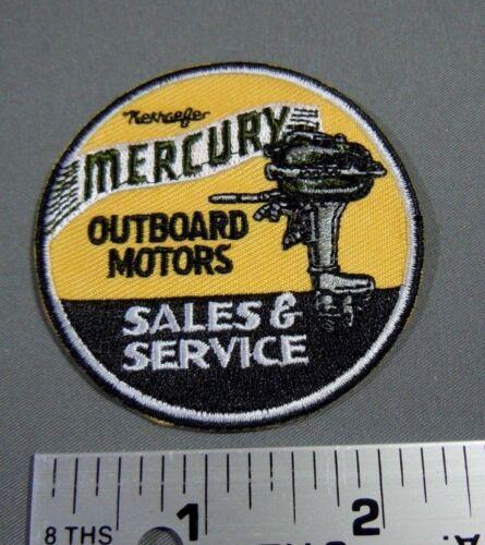 "Iron On Jacket MERCURY Outboard Motors Sales /& Service Cap Patch 2.5/"""