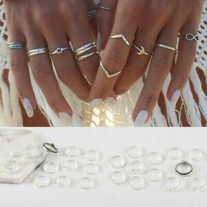 12X-Frauen-Silber-Midi-Fingerring-Set-Vintage-Punk-Boho-Knuckle-Ring-Schmuck
