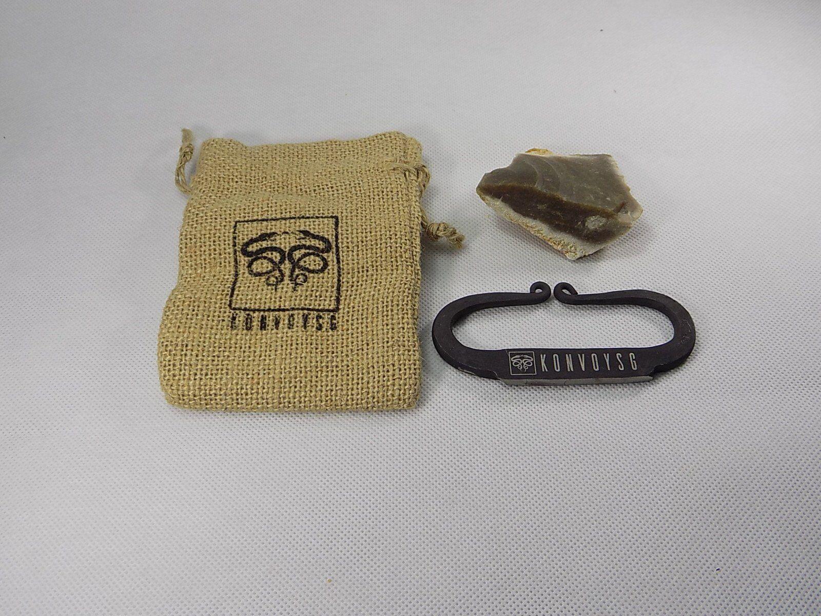 Konvoysg pietra focaia e un acciaio Striker tradizionale in acciaio al (R1R)