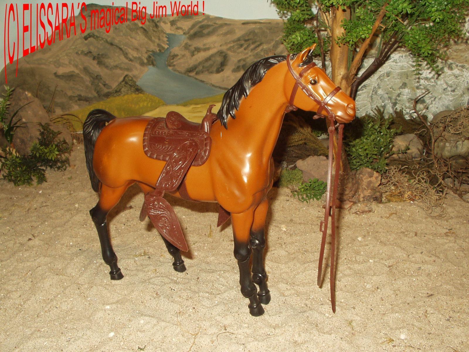 Big Jim   Barbie Pferd in rarer Curry Farbe   Horse   Cavallo   Cheval - Mattel
