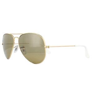 31c5e5280 Ray-Ban Gafas de sol Aviador 3025 Oro Marrón ESPEJO PLATA DEGRADADO ...
