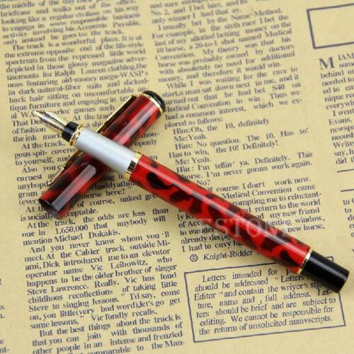 Baoer 801 Stainless Steel Metal Medium Nib Fountain Pen Student Office Writing