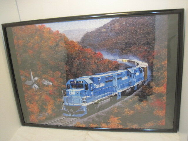 OLD COMPLETE R/R TRAIN BOSTON & MAINE JIGSAW PUZZLE HOBBIE