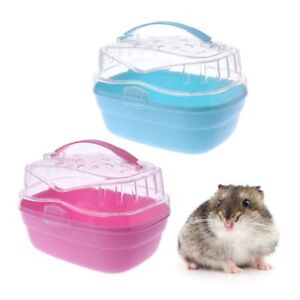 Small-Animal-Hamster-Cage-Pet-Outdoor-Carrier-Portable-Guinea-Pig-Go-Out-Box