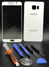 White Front Outer Lens Screen Glass Replacement for Samsung Galaxy Note 5 N920