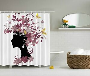Image Is Loading Spring Butterflies Digital Print Shower Curtain African Woman