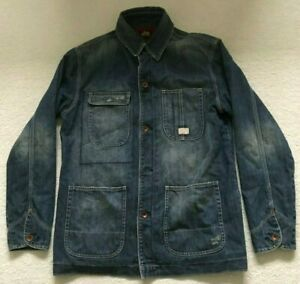 Paul Smith RED EAR Military Style Distressed Denim Jacket