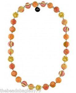 NEW JILZARA Handmade Clay Beads LIME GREEN BLUE Medium 12mm Necklace