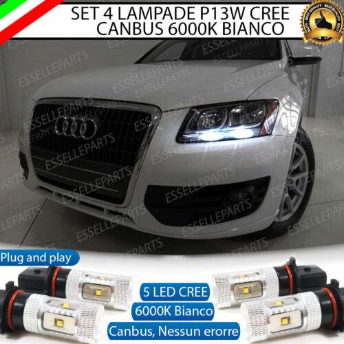 KIT 4 LAMPADE POSIZIONE P13W LED CREE DRL AUDI Q5 CANBUS NO AVARIA 6000K