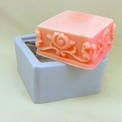 Soap Mold Square Flower Flexible Silicone Mould For Resin Candy Candle Craft