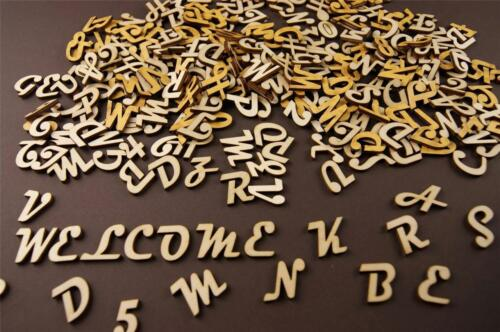 250+ Wooden Small 2cm NF9 Adhesive Letters /& Digits Craft Alphabet Decoration