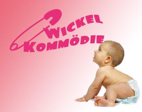 Wandtattoo Kinderzimmer Baby Wickelkommödie Wickeltisch windeln wal065