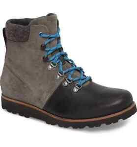 29318ba5e74 UGG Australia Men's Halfdan Waterprroof Lace Up Grizzly Boot ...