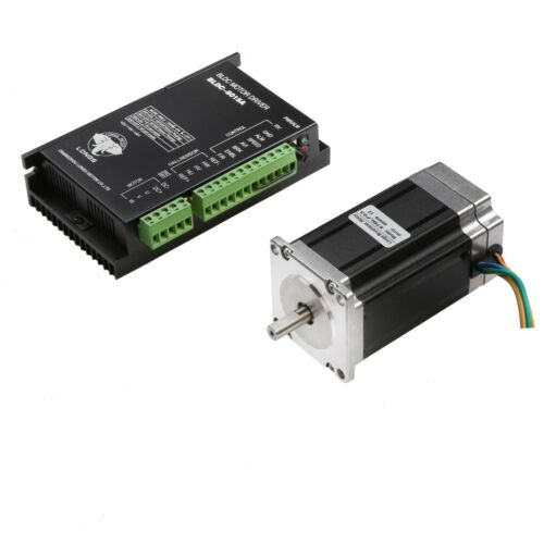 Brushless DC Motor 57BLF03 188 W 24 V 3000 tr//min Nema 23 /& Driver BLDC 8015 A CNC