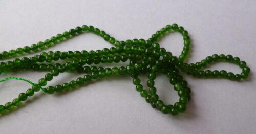 1 Strang Jade Perlen Kugeln grün 2mm zur Schmuckherstellung