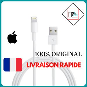CÂBLE CHARGEUR IPHONE ORIGINAL USB APPLE 1M 5/5C/5S/6/6+/6s/7/8/X/XS/XR/11