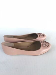 c9a6885b54b7 Image is loading NEW-TORY-BURCH-Melinda-Leather-Flats-Shoes-Ballerina-