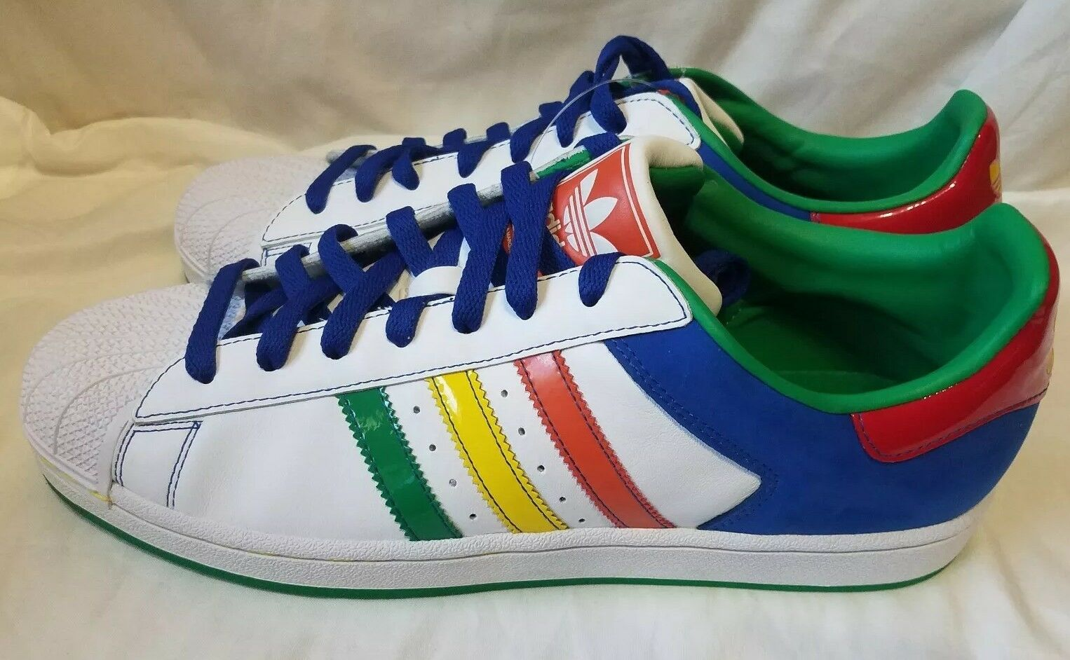 60ad6d960f9 Adidas Superstar II Cb Mens shoes shoes shoes White Multi-color WITH ...