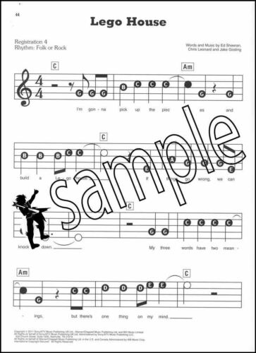 Ed Sheeran E-Z Play Today Keyboard Sheet Music Book The A Team Sing Photograph