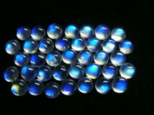 12x12 MM Natural Top Rainbow Moonstone Round Loose Cabochon Gemstone GW-10