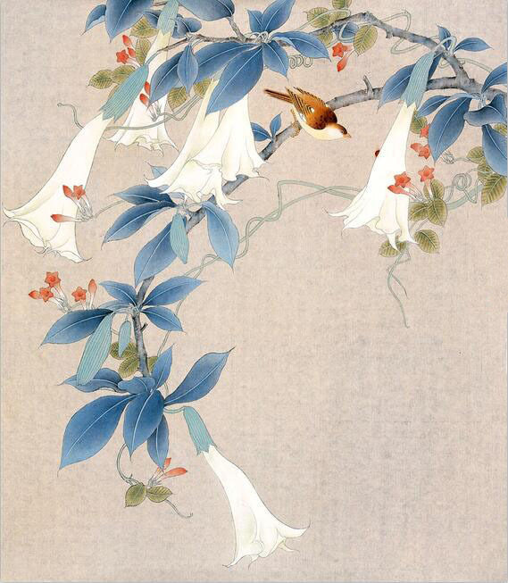 3D Bird In Flower Branch Wall Paper wall Print Decal Wall Deco Indoor wall Mural