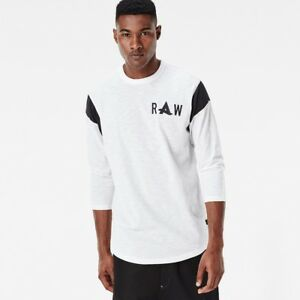 7ee68bb34f1 Details about  120 Authentic Rare G-STAR RAW Men s Afrojacket Long R T 3 4 Sleeve  Tee T-shirt