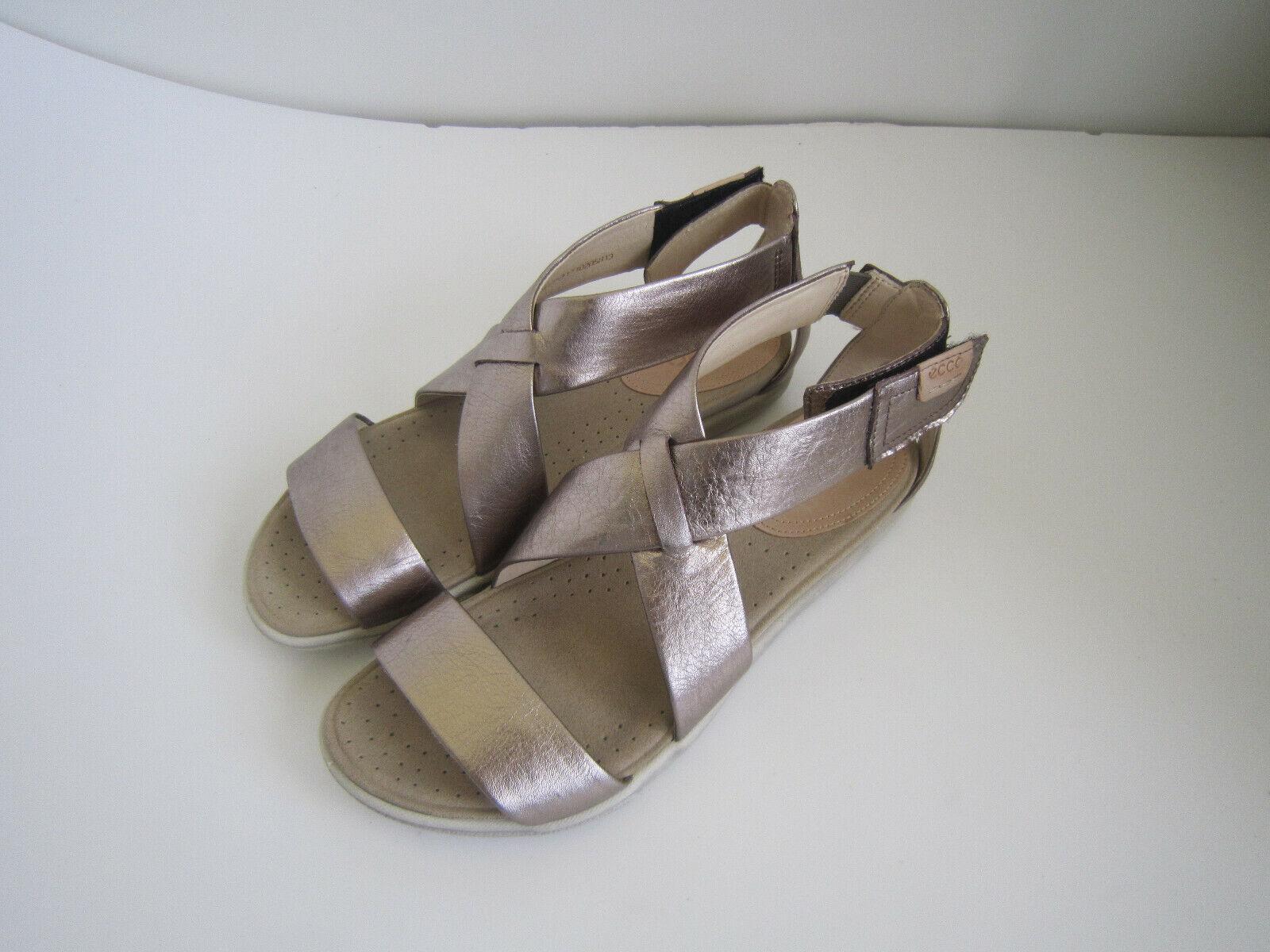 Ecco DAMARA STRAP Metallic grå läder Sandals Kvinnor Kvinnor Kvinnor i 65533;65533;Storlek 36 U 6  den mest fashionabla