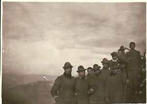 --- FOTO DEL 1910/20ca - GRUPPO DI MILITARI REGIO ESERCITO ALPINI -