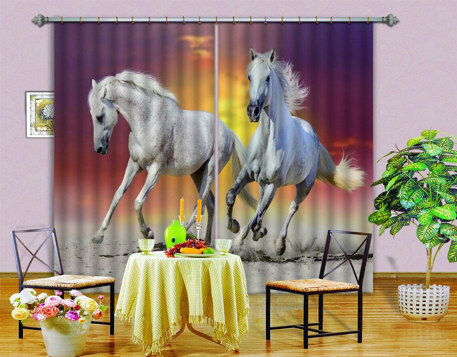 3d playa caballo 203 bloqueo foto cortina cortina de impresión sustancia cortinas de ventana