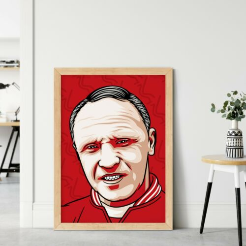Liverpool Football Club Wall Art Print on 100/% Cotton Paper Bill Shankly Poster