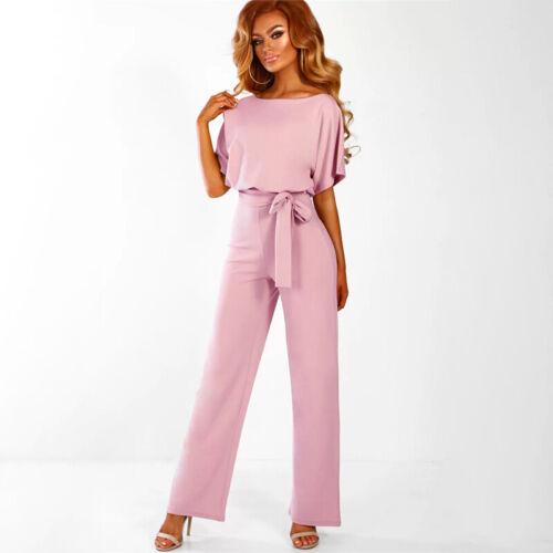 Women/'s Bodysuit Jumpsuit Romper Wide Long Pants Playsuit Evening Party Cocktail