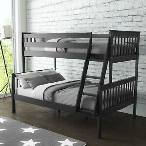 New-Oxford-Triple-Bunk-Bed-Sleeper-in-Dark-Grey-Small-Double-Bedroom-Furniture