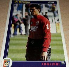 CARD SCORE 1993 CAGLIARI DI BITONTO CALCIO FOOTBALL SOCCER ALBUM