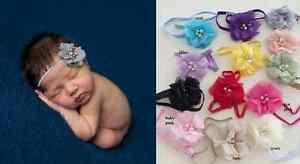 Baby-Infant-Toddler-Girls-Single-Beaded-Chiffon-Flower-Headband-0-18-months
