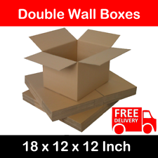 15x STRONG DOUBLE WALL CARDBOARD BOXES HOME REMOVAL STORAGE PACKING LARGE SIZE