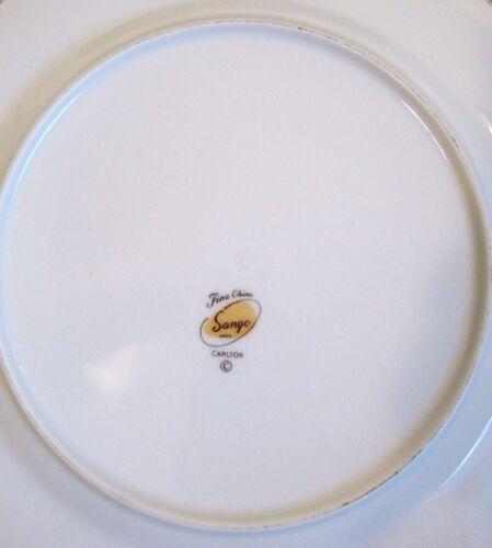 "10 3//8/"" across Carlton Fine China Sango Japan Dinner Plate 7238"