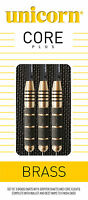 Unicorn Core Plus Brass Steel Tip Darts - 21g, 23g, 25g and 27g