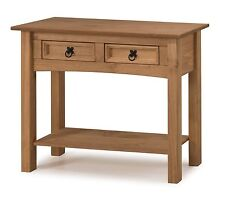 Corona Console Table 2 Drawer Mexican Solid Pine Hallway by Mercers Furniture®