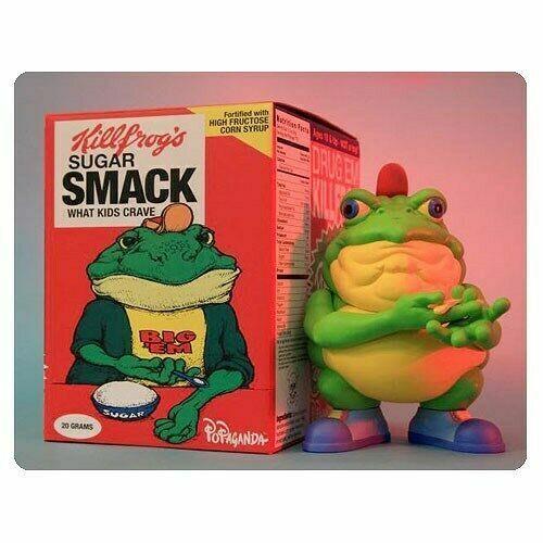 Drug Em Killfrog Sugar Smack Bullfrog 8 Vinyl Figure Ron English Cereal Killer